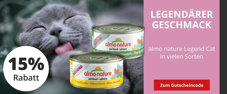 15% Rabatt auf almo nature Katzenfutter