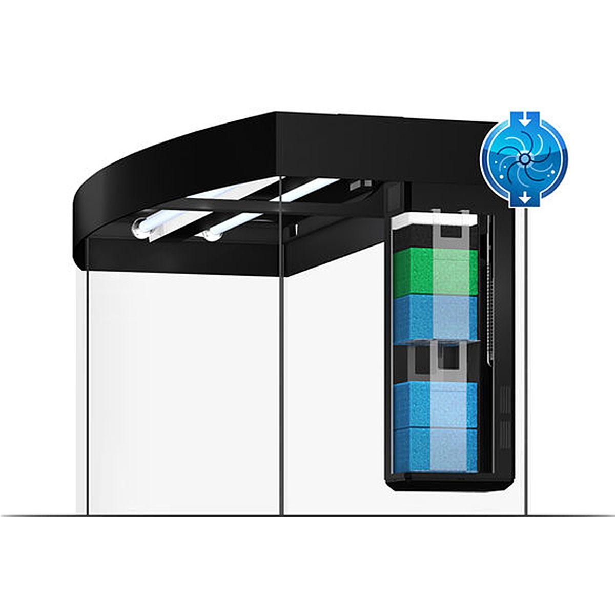 juwel aquarium vision 180 led mit unterschrank sbx bei zooroyal. Black Bedroom Furniture Sets. Home Design Ideas