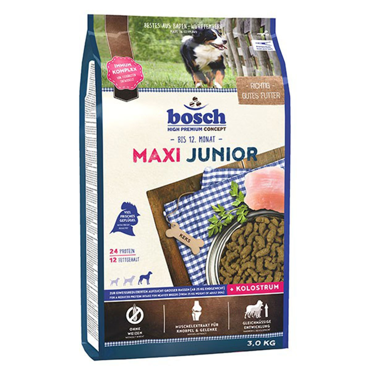 Bosch Hundefutter Maxi Junior 3kg
