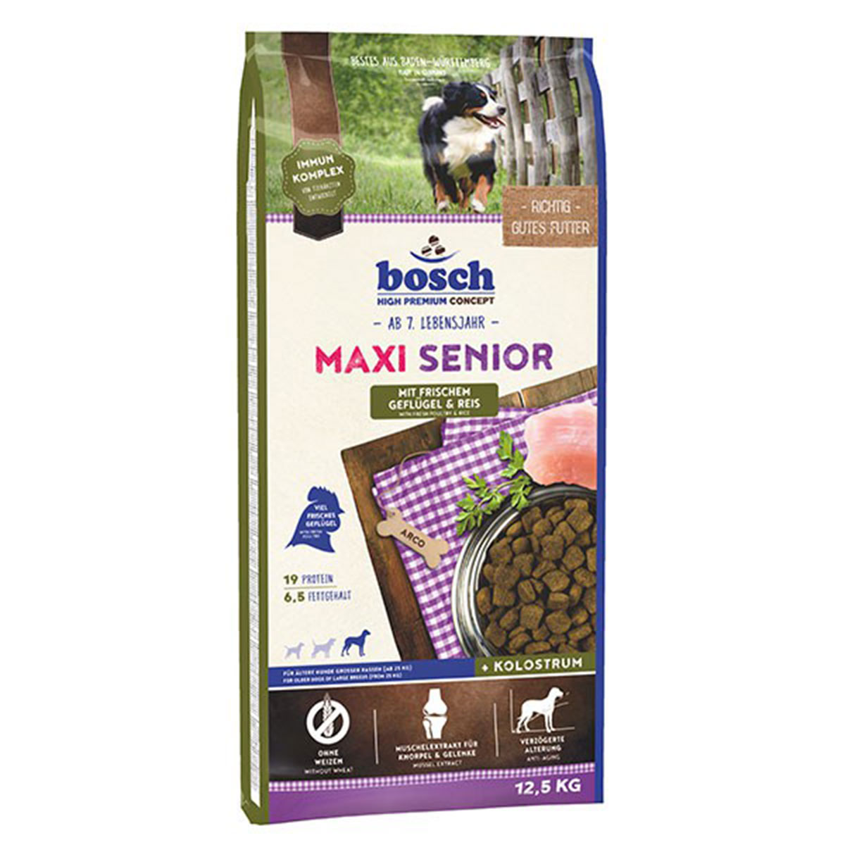 Bosch Hundefutter Maxi Senior Geflügel & Reis 12,5kg