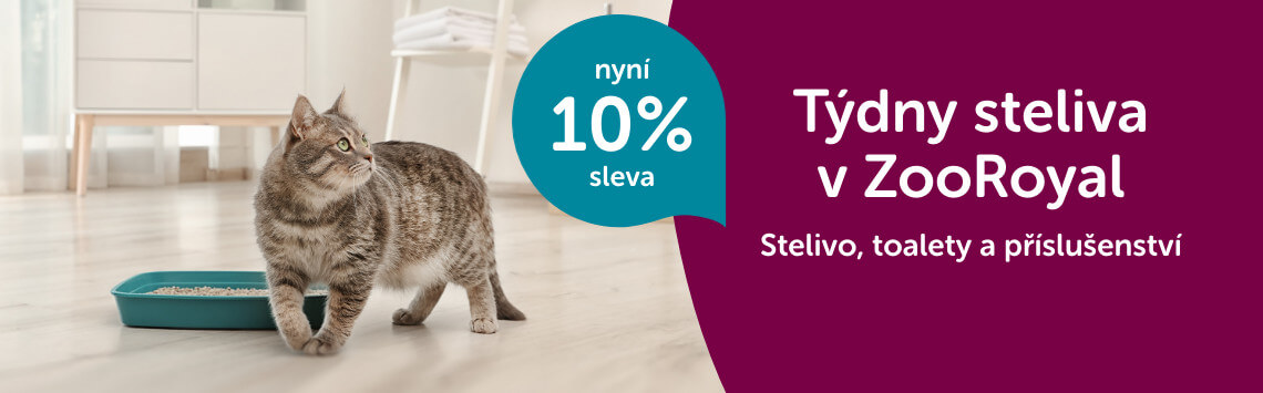 Stelivo a kočičí toalety -10 %