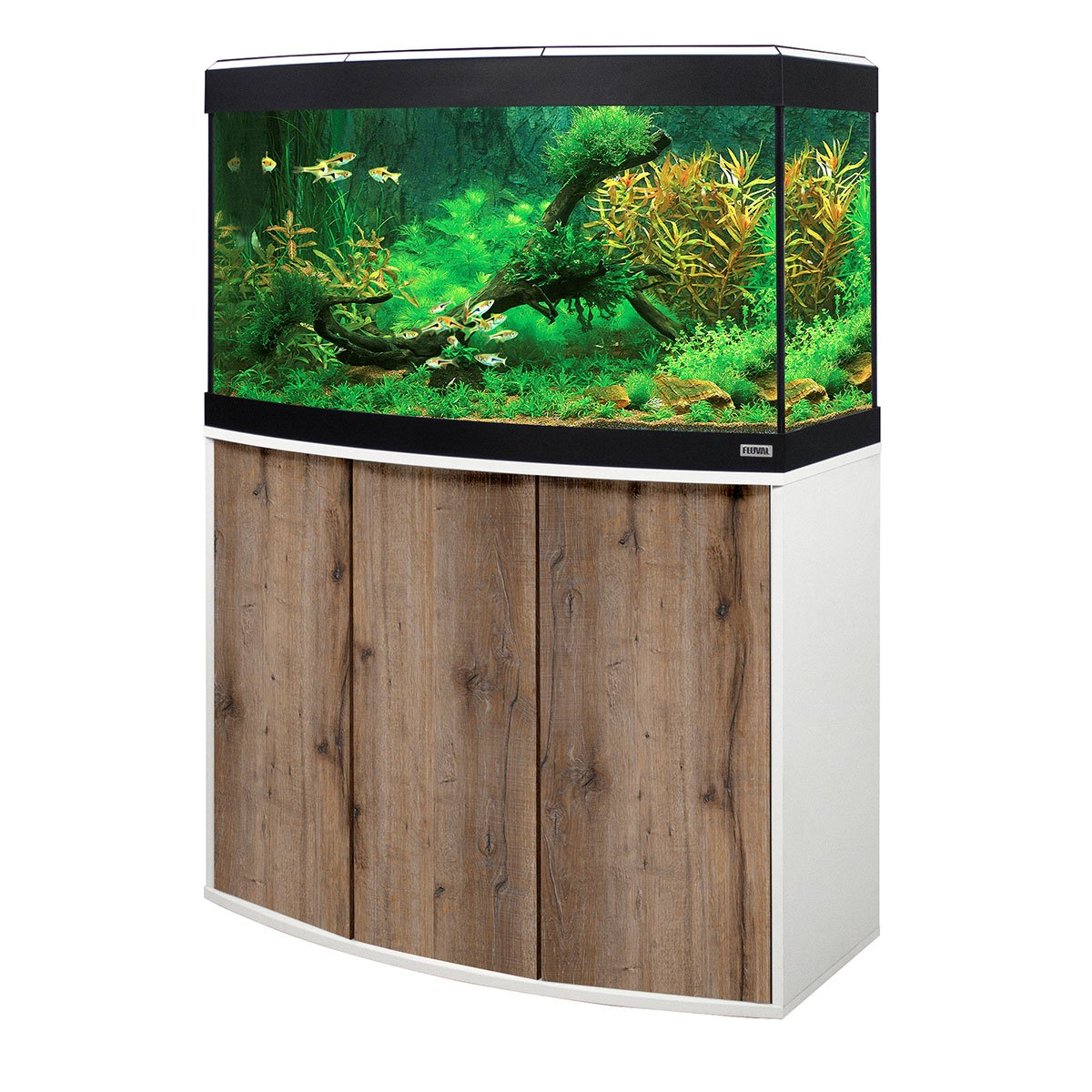 fluval panoramaaquarium mit led beleuchtung vicenza 180. Black Bedroom Furniture Sets. Home Design Ideas