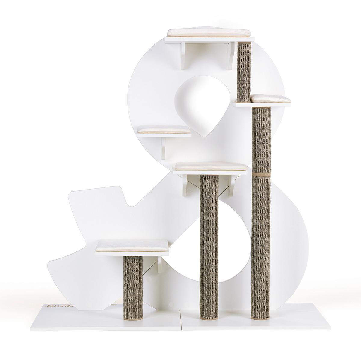 kletterletter katzenkratzbaum wei kaufen bei zooroyal. Black Bedroom Furniture Sets. Home Design Ideas