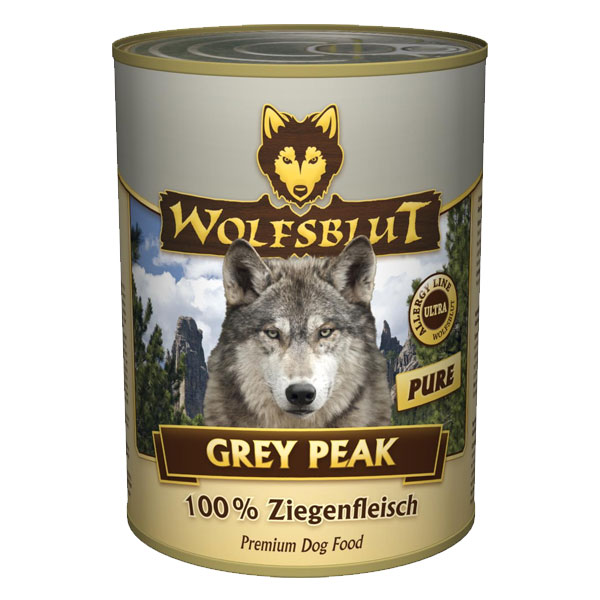 wolfsblut hundefutter grey peak pure wildziege 395g bei zooroyal. Black Bedroom Furniture Sets. Home Design Ideas