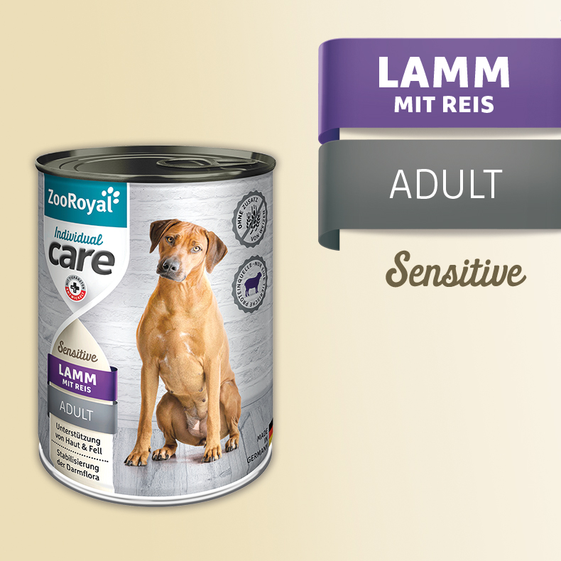ZooRoyal Care Adult Sensitive Lamm mit Reis