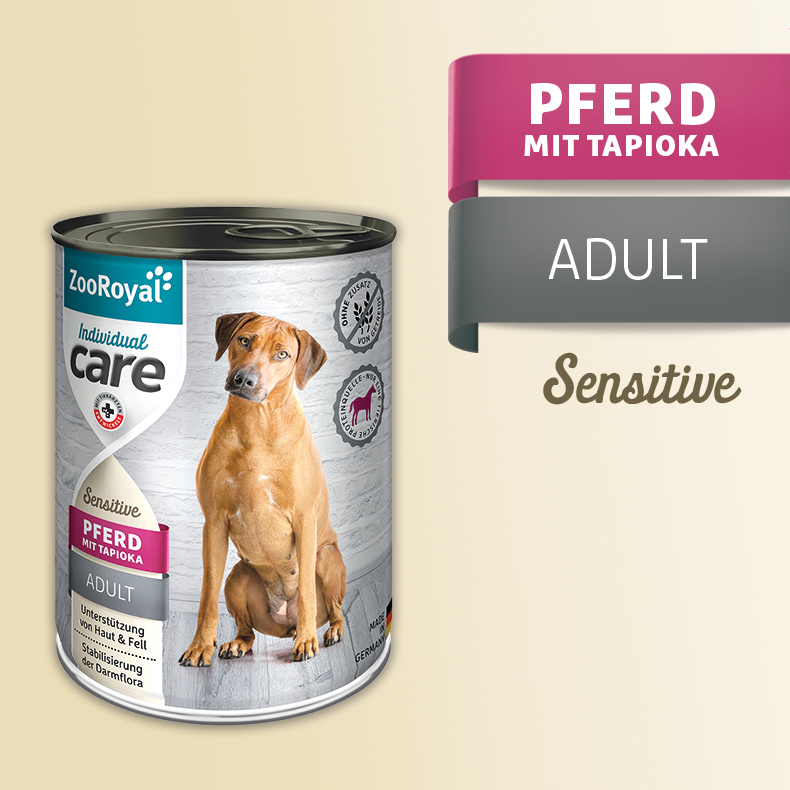 ZooRoyal Care Adult Sensitive Pferd mit Tapioka