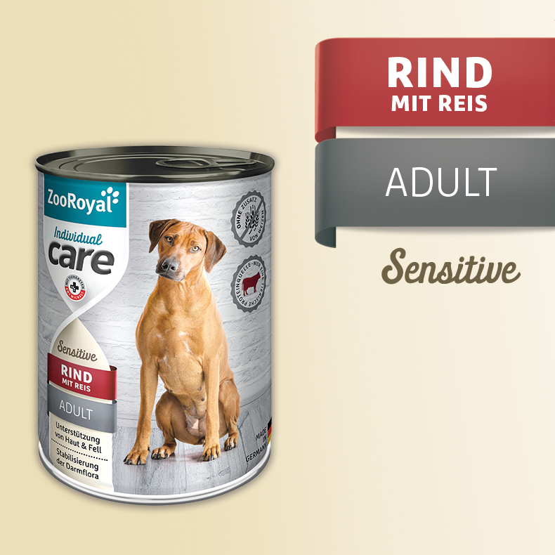 ZooRoyal Care Adult Sensitive Rind mit Reis