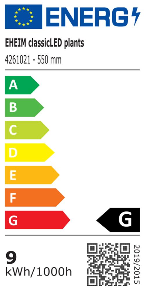 EHEIM classicLED plants Energieeffizienzklasse