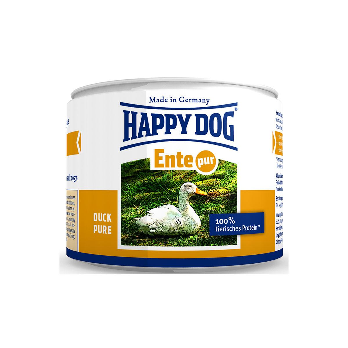 happy dog hundefutter ente pur g nstig kaufen bei zooroyal. Black Bedroom Furniture Sets. Home Design Ideas