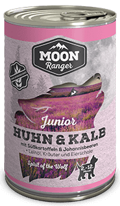 Moon Ranger Junior Huhn & Kalb mit Süßkartoffeln & Johannisbeeren
