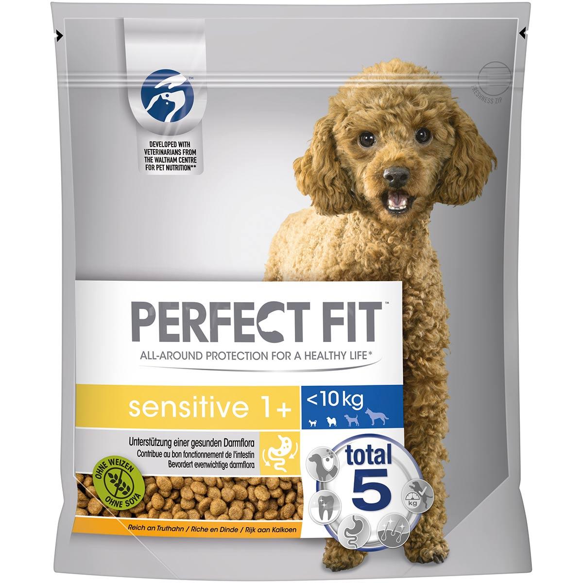 PERFECT FIT Sensitive Adult 1+ für kleine Hunde mit Truthahn 1,4kg