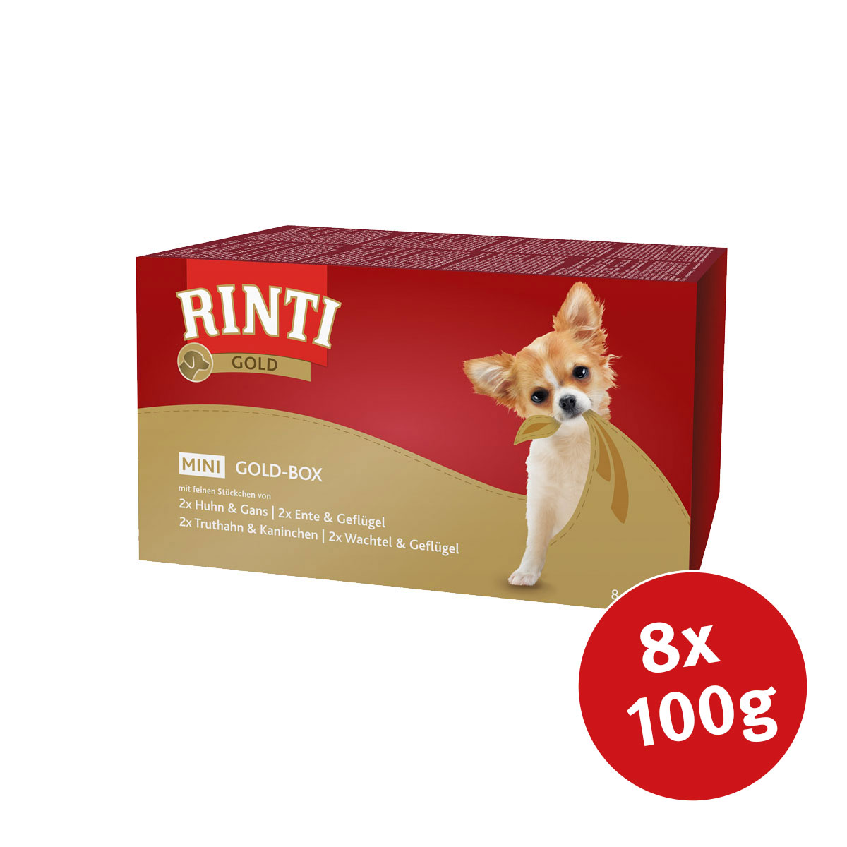 rinti hundefutter gold mini goldbox 8x100g kaufen bei zooroyal. Black Bedroom Furniture Sets. Home Design Ideas