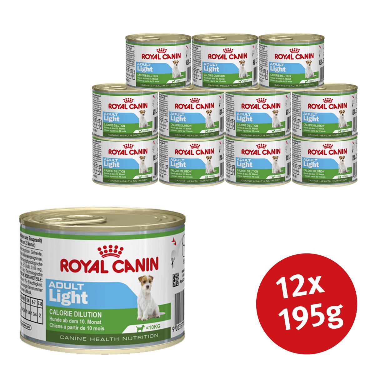 royal canin adult light 12 x195g g nstig kaufen bei zooroyal. Black Bedroom Furniture Sets. Home Design Ideas