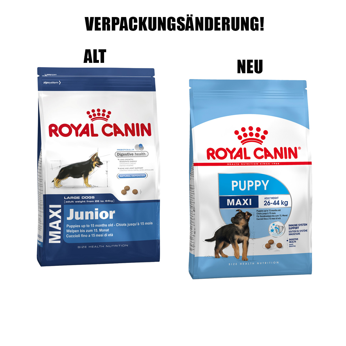 royal canin maxi puppy g nstig kaufen bei zooroyal. Black Bedroom Furniture Sets. Home Design Ideas