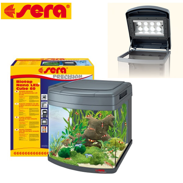 sera biotop nano led cube 60 liter inkl beleuchtung filter abdeckung ebay. Black Bedroom Furniture Sets. Home Design Ideas