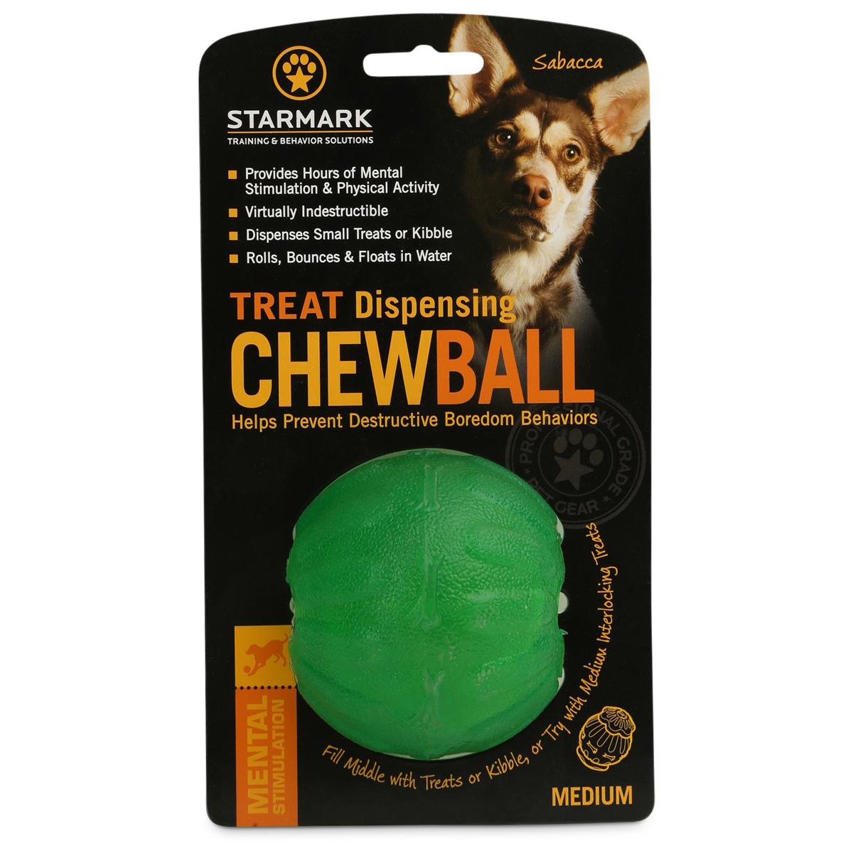 Starmark Hundespielzeug Treat Dispensing Chew Ball M