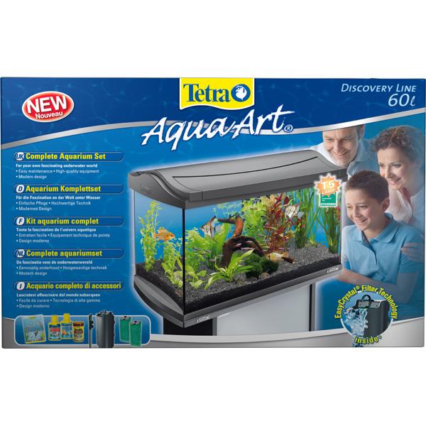 tetra aquaart aquarium komplett set 60 liter anthrazit. Black Bedroom Furniture Sets. Home Design Ideas