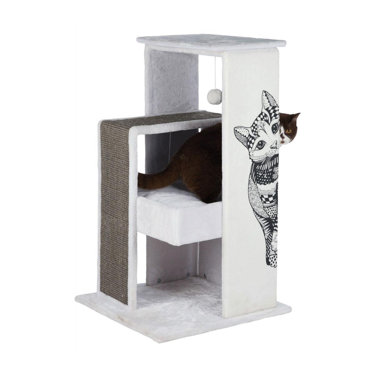 trixie kratzbaum maria 101cm wei grau kaufen bei zooroyal. Black Bedroom Furniture Sets. Home Design Ideas