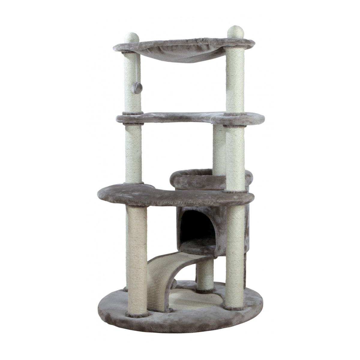 trixie kratzbaum patricia 140cm silbergrau katzenbaum. Black Bedroom Furniture Sets. Home Design Ideas