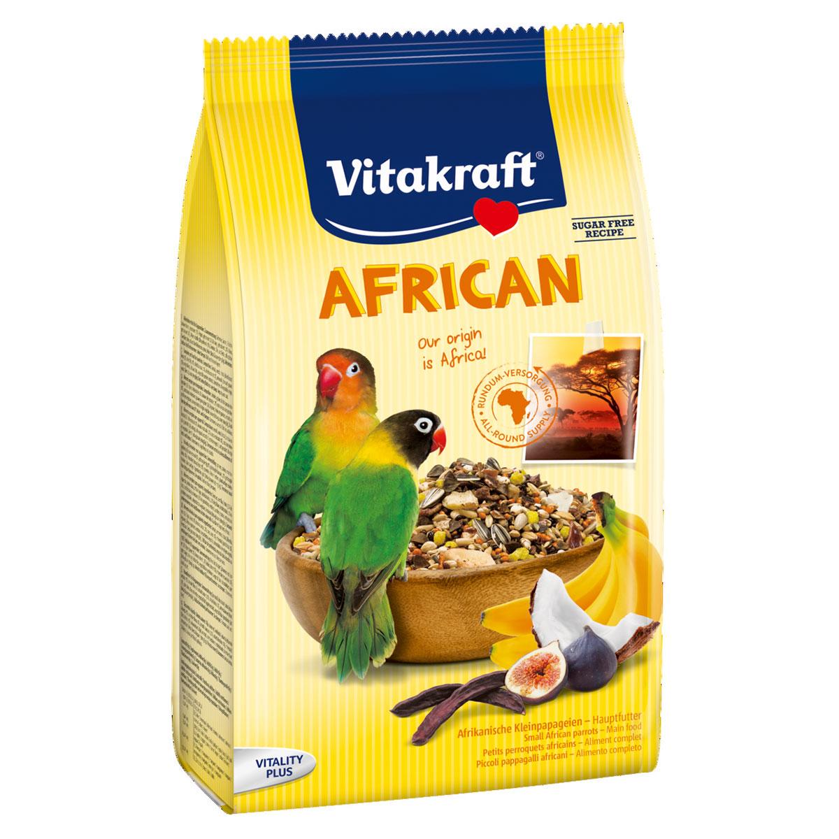 Vitakraft vogelfutter für afrikanische klein papageien g