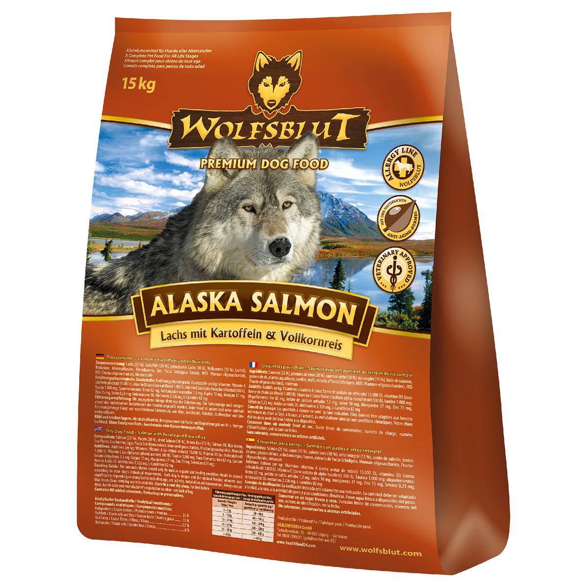 wolfsblut alaska salmon hundefutter trockenfutter glutenfrei hypoallergen ebay. Black Bedroom Furniture Sets. Home Design Ideas