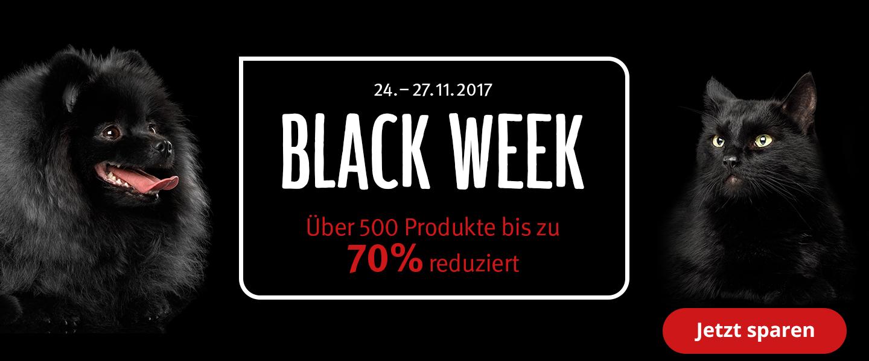 Black Week bis zu 70% Rabatt auf über 500 Produkte