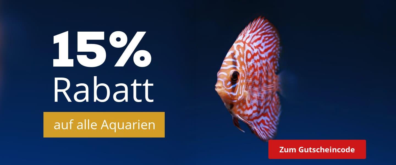 15% Rabatt auf alle Aquarien