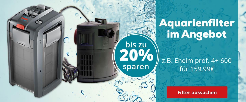 Aquarienfilter bis zu 20% rabattiert