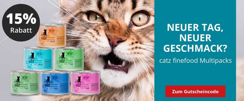 catz finefood Multipacks mit 15% Rabatt