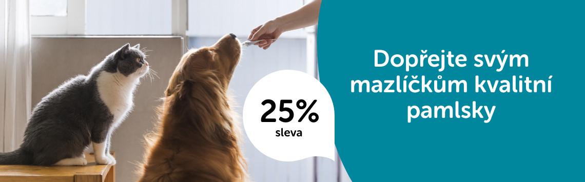 Pamlsky pro kočky a psy s 25% slevou