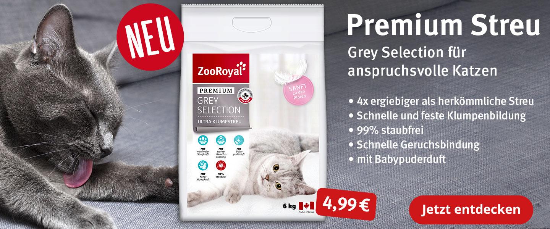 ZooRoyal Grey Selection das neue Premium Katzenstreu