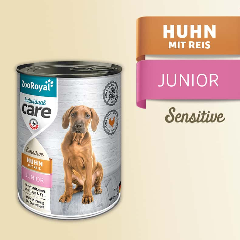 ZooRoyal Care Junior Sensitive Huhn mit Reis