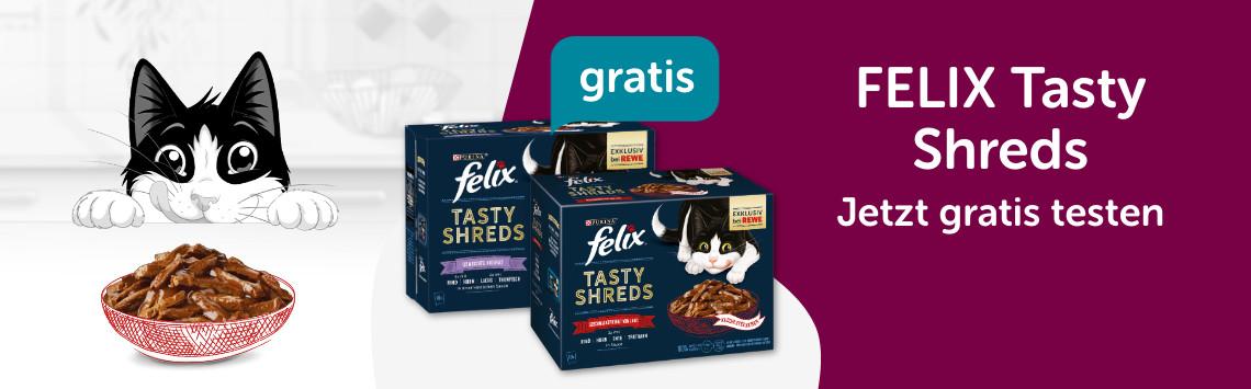 FELIX Tasty Shreds Gratis Testen