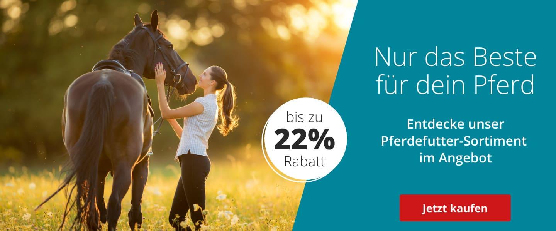 Bis zu 22% auf Pferdefutter