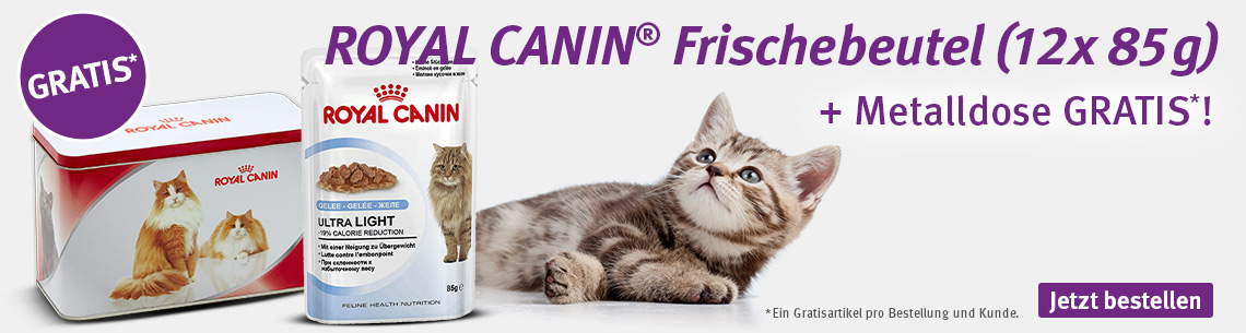 Royal Canin mit gratis Metalldose