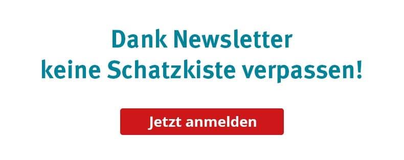 Newsletteranmeldung für die Schatzkiste