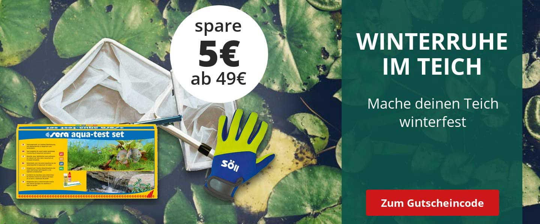 Winterruhe im Teich 5€ Rabatt