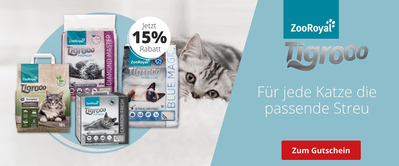 Tigrooo Katzenstreu mit 15% Rabatt