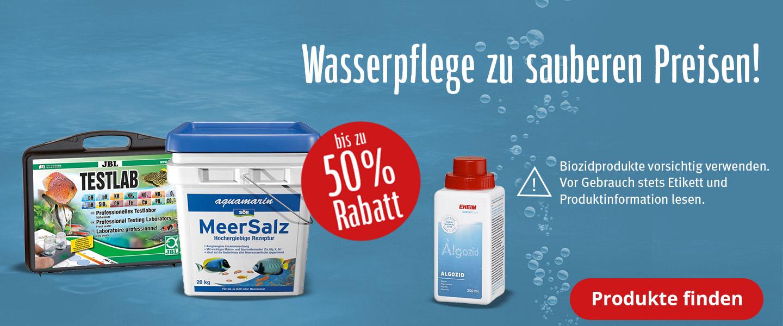 Wasserpflege-Produkte mit bis zu 50% Rabatt