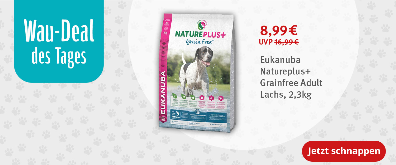 Wau-Deal Eukanuba Natureplus+ Grainfree Adult 2,3kg für nur 8,99 Euro statt 16,99 Euro