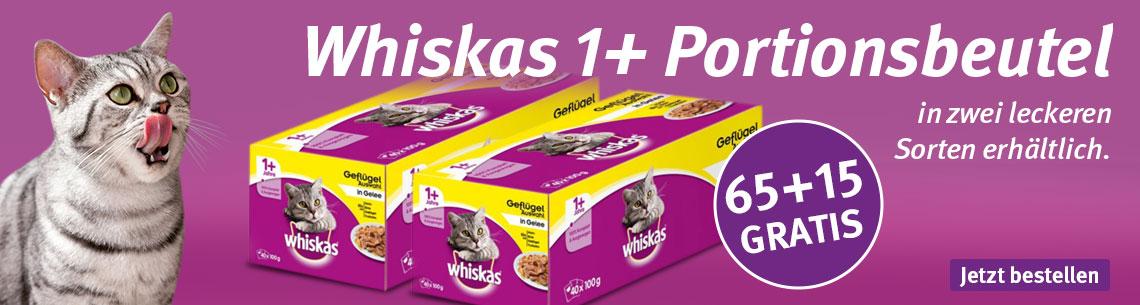 Whiskas 65 + 15 Pouches gratis