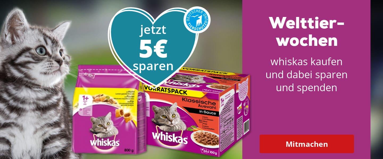 Für 15€ Whiskas kaufen, 5€ zurück erhalten