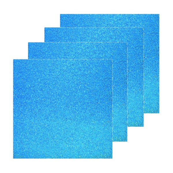 Blaue Filtermatte universal 4er Bundle 50 x 50 x 3 cm