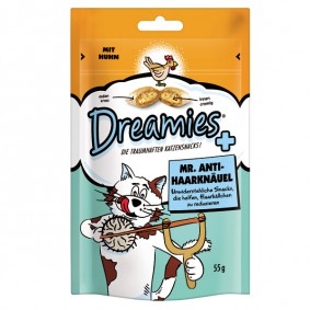 Dreamies Plus Katzensnack Mr. Anti-Haarknäuel 55g