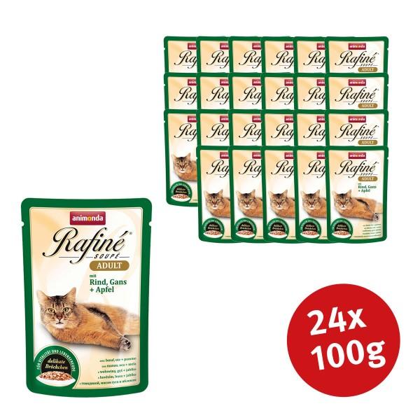 Animonda Katzenfutter Rafiné Soupé Adult mit Rind, Gans & Apfel