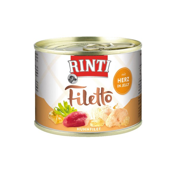 Rinti Hundefutter Filetto Huhn & Herz in Jelly