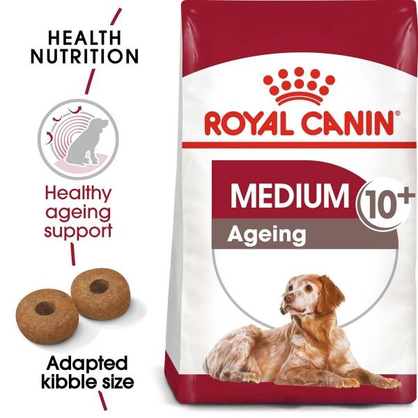 ROYAL CANIN MEDIUM Ageing 10+ 15kg + MEDIUM Ageing 10x140g