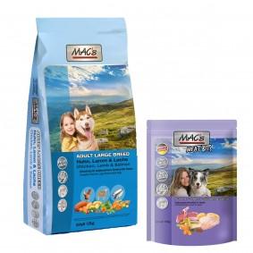 MAC's DOG Adult Large Breed 12kg + 150g Meat Bits