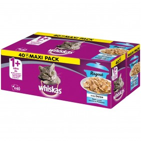 Whiskas Ragout Adult 1+ Fischauswahl in Gelee