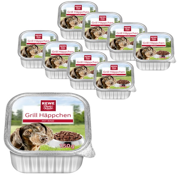 REWE Beste Wahl Hundefutter Grill Häppchen mit Rind